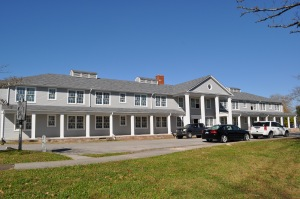 Front facade of the Guest House / Alexander Inn. Building is being transformed into a senior living facility.