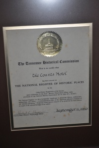 National Register posted in the lobby of Armour's