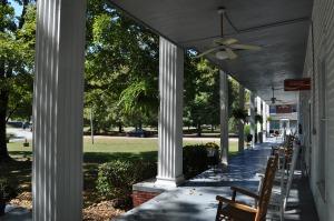 Front porch at Donoho