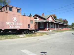 Loudon County Chamber of Commerce located in the historic train depot