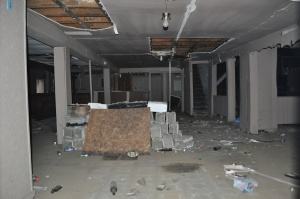 """Interior of """"Colored Hotel"""" taken yesterday."""