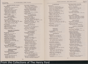 1949 edition of the Green Book entries for Tennessee. Source: University of Michigan. http://www.autolife.umd.umich.edu/Race/R_Casestudy/87_135_1736_GreenBk.pdf