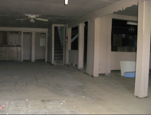 """Interior of """"Colored Hotel."""" Source: National Register Nomination 2008."""