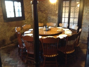 One of the new dining rooms located in the basement.