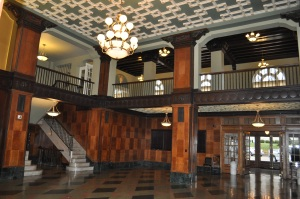 Interior of New Southern Hotel in Jackson. First two floors, shown, are rented out for special events. The remainder of the hotel was converted into housing for the elderly.