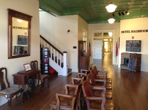 Interior shot of Clement Railroad Hotel Museum