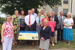 Civil War Trail marker dedication in Huntingdon, TN.